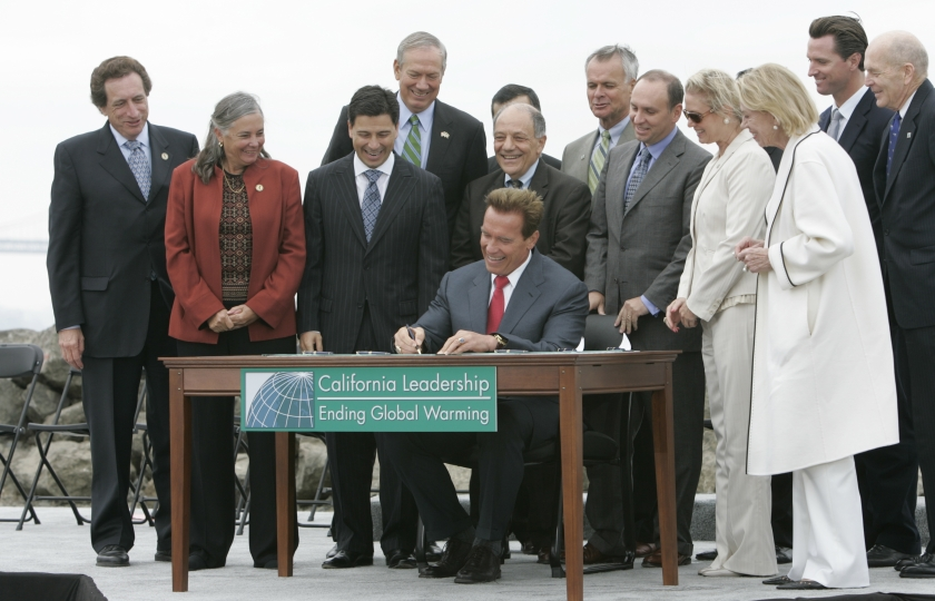 Governor Arnold Schwarzenegger signs AB 32, The Global Warming Solutions Act