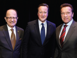 Schwarzenegger and David Cameron Reunite at USC