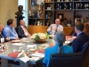 Charles Clarke has a conversation with Senator Fran Pavley and Senior Members of the Consular Corps from Los Angeles.