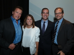 Schwarzenegger and Garcetti Inspire Crowd With Confidence In Continued US Environmental Leadership