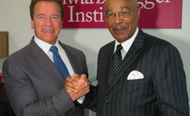 Former Governor Arnold Schwarzenegger and Former Secretary of Education Rod Paige
