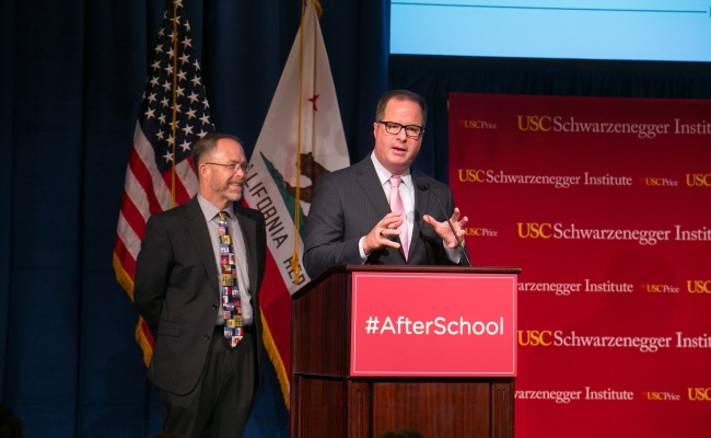 Superintendent of Long Beach Unified School District, Chris Steinhauser and Superintendent of Fresno Unified School District, Mike Hanson