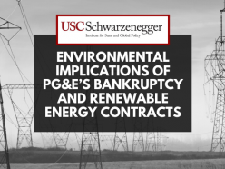Environmental Implications of PG&E's Bankruptcy and Renewable Energy Contracts