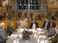 Institute Hosts Rear Admiral Fritz Roegge, and Leaders From the Media and Entertainment Industries
