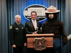 Governor Schwarzenegger Named Honorary Forest Ranger By Chief Tidwel