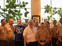 Schwarzenegger and John Milius Rally Hollywood in Support of the US Marine Corps