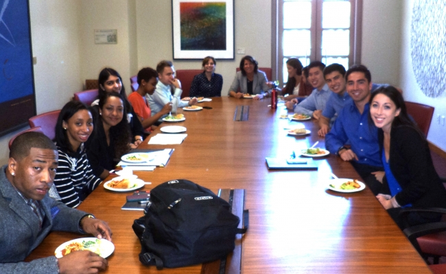 Schwarzenegger Institute Global Director Bonnie Reiss leads USC students in Education Policy discussion