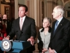 Press Conference in the US Senate with Schwarzenegger, Majority leader Reid and Senator Boxer